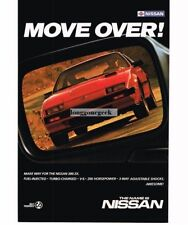 1985 Nissan Red 300ZX seen in side-view mirror Vtg Print Ad