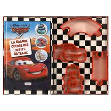 DISNEY coffret livre + 4 emporte-pièces CARS La grande course des petits gâteaux