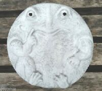 """Thinking Frog stepping stone mold.. 12"""" x  2"""" thick plaster concrete resin mould"""