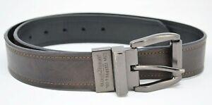 Levis • Reversable Ratchet Belt Brown Black Leather Mens • Size 32