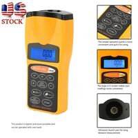 LCD Ultrasonic Measure Distance Meter Pointer Laser Point Range Finders 18m Tool