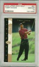 Tiger Woods 2003 Upper Deck UD Golf Chip Shots PSA 10 Gem Mint *POP 30*