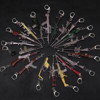 Men's 3D Gun Weapon Keyring Key Chain Cute Mini Car Pendant Key Ring Charm Gifts