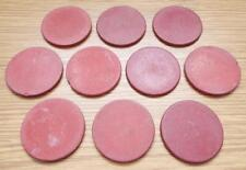 10 x Antique Vintage Red Clay Poker Chips Games Counters c1900