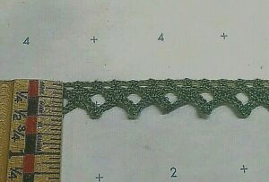 GREEN sequins lacey edge trim