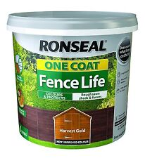 Ronseal 12L One Coat Fence Life Quick Dry Garden Shed & Fence Paint  All Colours