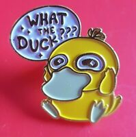Pokemon Psyduck Pin Enamel Brooch Lapel Badge Cosplay Gift POGO Gaming Confusion