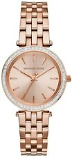 Mini Darci Michael Kors para mujer Reloj MK3366 oro rosa esfera rosa Correa RRP £ 249.99