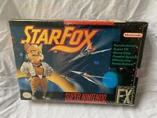 Star Fox (Super Nintendo SNES, 1993) Game Complete CIB With Factory Seal MINT
