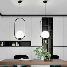 Large Chandelier Lighting Glass Pendant Lights Black Ceiling Lamp Kitchen Light