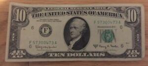 1963 A Ten Dollar Federal Reserve Note Atlanta