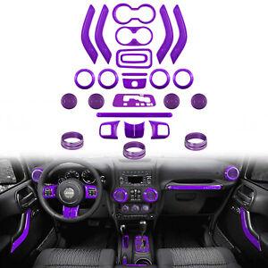 For Jeep Wrangler 26 PCS Interior Decoration Trim Kit Door Handle, AC Ring Cover