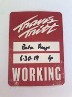 Travis Tritt 2019 Concert Tour Local Working Backstage pass fan memorabilia