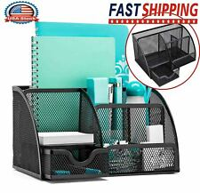 Office Desk Organizer Pen Holder Supplies Table File Desktop Cady With6 Components