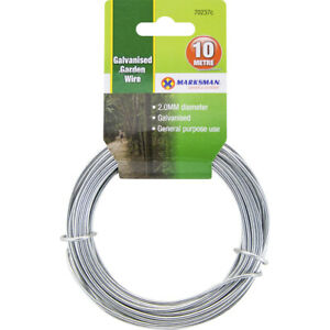 2MM X 10M Galvanised GARDEN WIRE FENCING FENCE GENERAL USE STEEL WIRE NEW