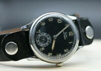 💥RARE Vintage Military FELCO WWII Aviator Luftwaffe Wrist Watch Swiss SERVICED