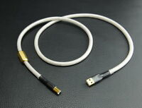 High Quality Silver Plated HIFI USB Cable DAC A-B USB Audio Cable A to B