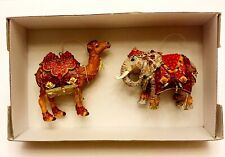 Dillards Trimmings Camel/Elephant Ornament Set-Collectible-Christmas -Retired-New