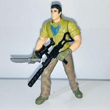 """Jurassic Park Dino Trackers ~ Desert Tracker Alan Grant 3.75"""" Figure + 2 Weapons"""