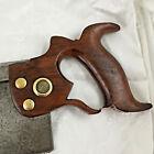"Antique Disston backsaw dovetail saw 14"" blade Philada Medallion Circa 1893-1917"