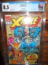 X-Force #1 2nd Printing 8/91 CGC 8.5 Rob Liefeld Cover Art Wrap Around Cover