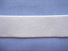 20mm White Non Roll Knit Elastic (Firm) (x 2 metres)