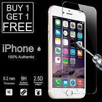 100% GENUINE TEMPERED GLASS FILM SCREEN PROTECTOR FOR APPLE IPHONE 6 6S - NEW