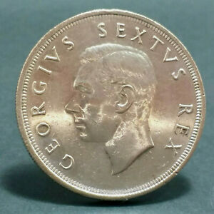 SOUTH AFRICA SILVER COIN GEORGE VI 5 SHILLING 1952