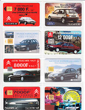 6 TELECARTE / PHONE CARD .. FRANCE 50U PACK AUTO CAR MIX 1  PUCE C.12€
