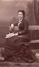 Elegant Woman French Fashion Dijon old CDV Photo 1870'