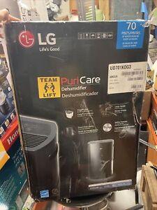 LG UD701KOG3 PuriCare 70 Pint ENERGY STAR Portable Dehumidifier, Black,