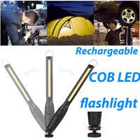 LED Brillant COB Rechargeable Lampe Torche Magnétique Lampe de poche tactique FR