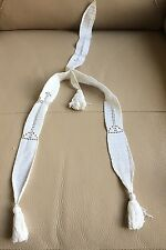 VINTAGE DECO MAIN blanche crochet dentelle Barbu col robe Avant Clapet Bridal