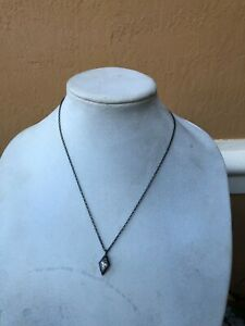 Silpada Sterling Silver Crystal Pendant Necklace
