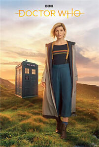 """DOCTOR WHO POSTER - JODIE WHITTAKER - 13TH DOCTOR - TARDIS - 36 x 24"""" 91 x 61 cm"""