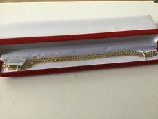 Beautiful Italian Made Solid 9k Yellow Gold Curb Necklace. 20 lnches.