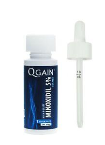Qgain High Purity Minoxidil 5% for MEN 1 month supply  1 x 60mL bottle