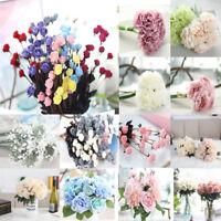 Artificial Silk Fake Flowers Wedding Valentines Bouquet Bridal Hydrangea AU