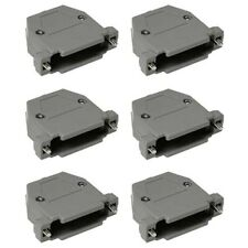6 Pcs DB25 D-SUB 25 Pin Connector Hood Cover Shell Housing Screw Type Plastic