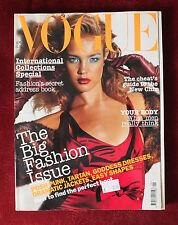 Vogue British UK ~ September 2003 ~ Natalia Vodianova Bridget Hall