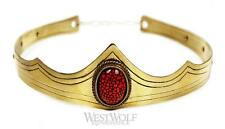 Gold Royal Crown with Dragon's Eye Stone for King/Queen - Medieval/Tiara/Jewelry