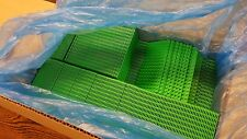 Genuine LEGO Base Plate 8x16 MiniFigure - LOT of 100 - BRIGHT GREEN Thin - NEW