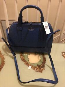 NWT Kate Spade Riverside Street Ostrich Small Felix Handbag