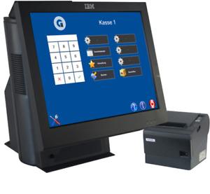 Computerkasse IBM 15 Zoll Touch All in One mit Epson Bondrucker Windows 10