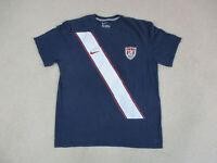 Nike USA Soccer Shirt Adult Extra Large Blue White United States Futbol Mens *