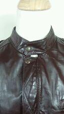 REED Vintage 70s Leather Biker Cafe Racer JACKET Coat Zip Liner Mens