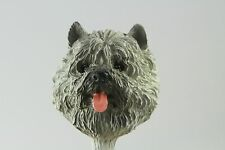 Cairn Terrier Gray Interchangeable Head (See All Breeds , Bodies @ Ebay Store)