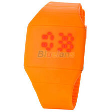 Waterproof Mens Womens Digital  LED Touch Sports Silicone Bracelet Wrist Watch