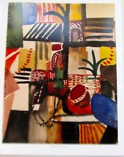 August Macke Poster of MAN WITH DONKEY Offset Lithograph Unsigned 14x11