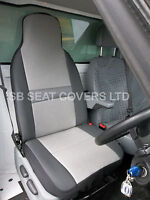 FORD TRANSIT  VAN  DRIVERS  SEAT COVER SHEEN GREY CLOTH FABRIC